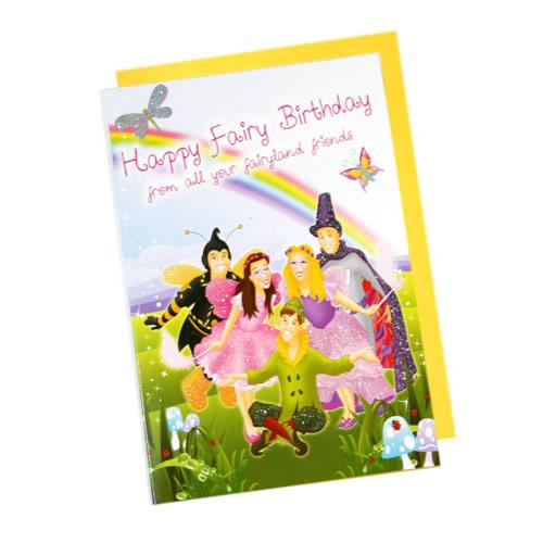 Birthday Card - Fairies Group